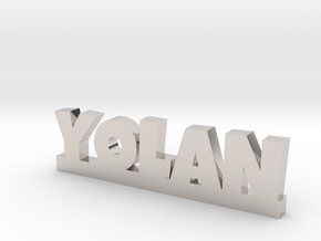 YOLAN Lucky in Rhodium Plated Brass
