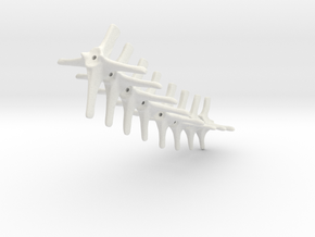 Komodo Spine Tail Links Part2 1:5 Scale in White Natural Versatile Plastic