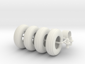 1/16 9.5L-15 Implement tires, wheel, and hubs in White Strong & Flexible