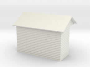 YVT Waiting Shelter 4mm Scale in White Strong & Flexible