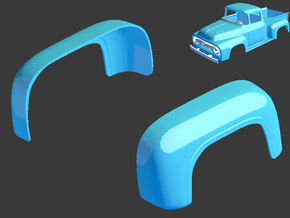 1956 Ford Pickup Rear Arches 1/8 in White Natural Versatile Plastic