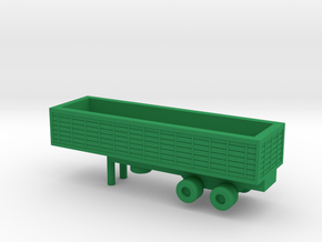1/144 Scale M127 Trailer in Green Strong & Flexible Polished