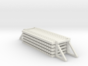 HO Railroad Tie Set Stacked 1-87 HO Scale in White Natural Versatile Plastic