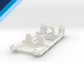Small Can Reverse motor mount - Slot.it compatible in White Natural Versatile Plastic