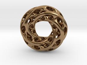 0611 IsoSurface F(x,y,z)=0 Diamond Tori [5] d=5cm in Natural Brass