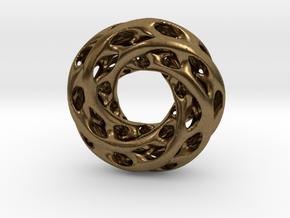 0611 IsoSurface F(x,y,z)=0 Diamond Tori [5] d=5cm in Natural Bronze