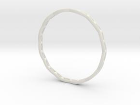 Stylish Bracelet in Metal, Sandstone and more.... in White Natural Versatile Plastic: Medium
