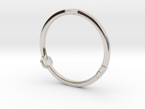 Hex 3 Ring - Full edition in Rhodium Plated Brass: 12 / 66.5