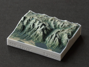 Grand Tetons, Wyoming, USA, 1:250000 Explorer in Full Color Sandstone