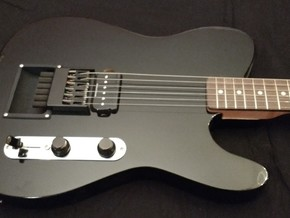 Hipshot headless bridge cup - 6 string guitar in Black Strong & Flexible