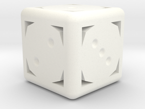 D6 in White Strong & Flexible Polished