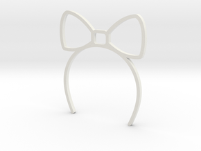 Neo blythe Doll Headband Bigribbon in White Strong & Flexible