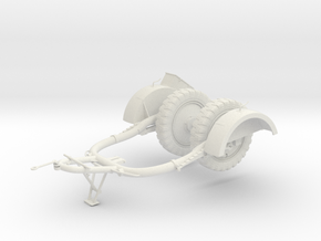 1:16 Sd.Ah. 51 Flak 38 Trailer in White Natural Versatile Plastic