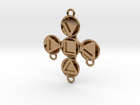 "Pendant ""Theodor"" in Polished Brass: Medium"
