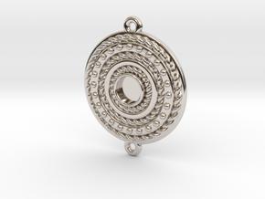 "Pendant ""Rotonde"" in Rhodium Plated Brass"