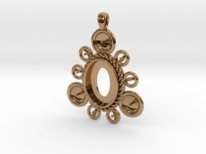 "Pendant ""Ursula"" in Polished Brass: Large"