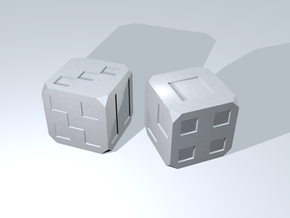 Box Dice in White Processed Versatile Plastic