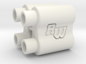 B6WS / wingmount spacer in White Strong & Flexible