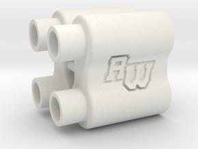 B6WS / wingmount spacer in White Natural Versatile Plastic