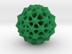 Star Bloom Uncut in Green Processed Versatile Plastic