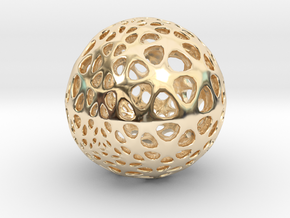 Amoeball in 14k Gold Plated Brass