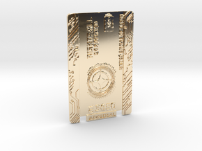 Star Citizen Card 2014 Personal in 14k Gold Plated Brass