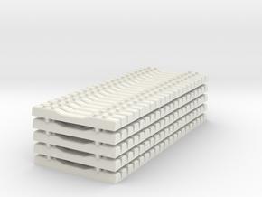 Concrete Railroad Tie 1-87 HO Scale Stacked   in White Natural Versatile Plastic