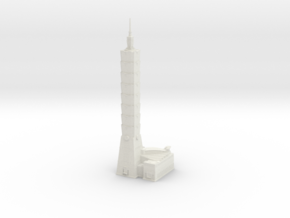 Taipei 101 (1:2000) in White Natural Versatile Plastic