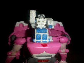 Daniel's Exosuit Headmaster for Arcee and TF Titan in White Natural Versatile Plastic