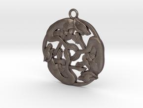 Celtic-Dog in Polished Bronzed Silver Steel