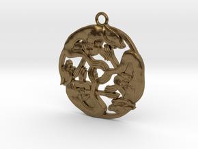 Celtic-Dog in Natural Bronze