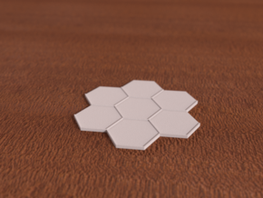 Beauty Base 7-Tile in White Natural Versatile Plastic