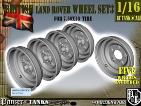 1-16 Land Rover 750x16 Wheels Set3 in Smooth Fine Detail Plastic