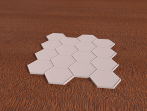 4x4 Hex Tile in White Strong & Flexible
