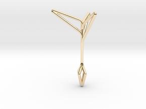 Little Tree N3 ,Fine Pendant. Pure Elegance. in 14K Yellow Gold