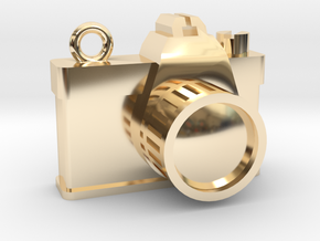 Camera in 14k Gold Plated Brass