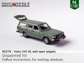 Volvo 245 DL with open tailgate (N 1:160) in Smooth Fine Detail Plastic