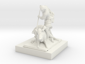 Printle Thing Classic Statue 1/24 in White Natural Versatile Plastic