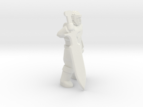 General Fighter Mini 2 (Greatsword) in White Natural Versatile Plastic: 1:56