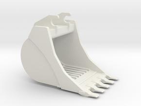336D Skeleton Bucket in White Strong & Flexible
