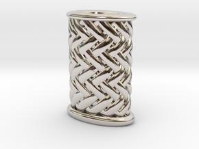 Stiletto-3-Griffstruktur-Small (Handle) Part 3 in Rhodium Plated Brass