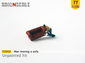 Man moving a sofa (TT 1:120) in Smooth Fine Detail Plastic