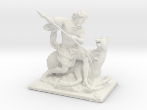 Printle Classic Statue in White Strong & Flexible