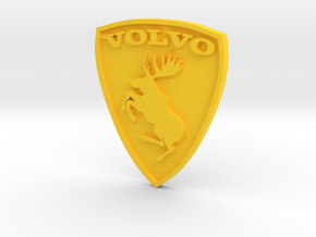 Volvo moose logo (aka Ferrari killer) in Yellow Strong & Flexible Polished