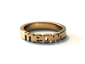 meow ring in 14k gold plated in 14k Gold Plated Brass: 7 / 54