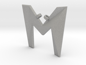 Distorted letter M in Aluminum