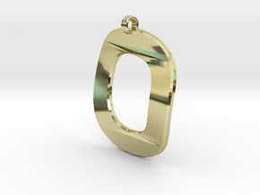 Distorted letter O in 18k Gold Plated Brass