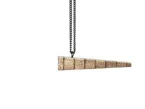 Balance Pendant in Polished Bronze Steel