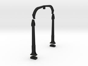 O Scale DTI concrete Catenary supports 2TRK KIT in Black Natural Versatile Plastic