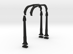 O Scale DTI concrete Catenary supports 4TRK KIT in Black Natural Versatile Plastic